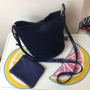 Urban Outfitters Navy Bucket Bag